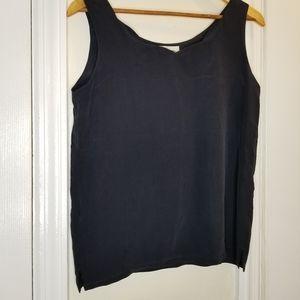 Casual Corner silk navy blue tank/blouse